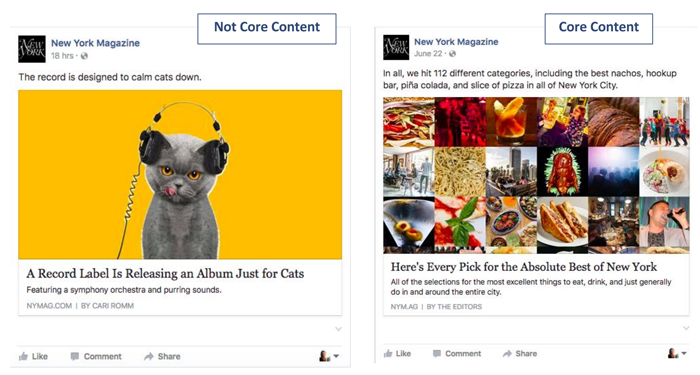 Core Content vs. Not Core Content