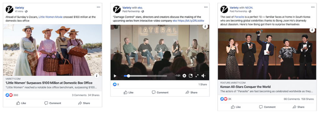 Variety's Facebook Posts