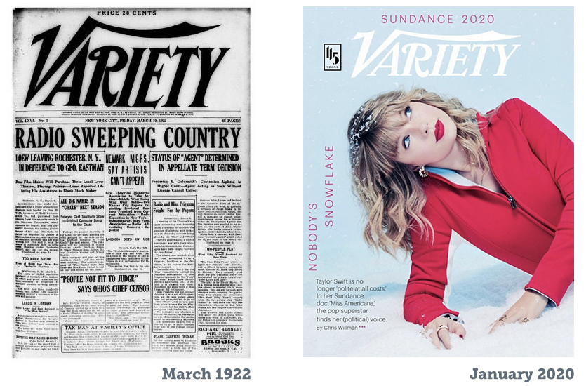 Variety Covers Over the Years